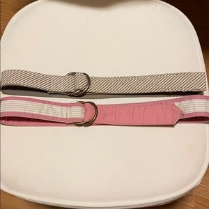 JCREW fabric belts